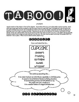 The Giver Taboo! A fun review game