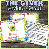 The Giver Review Activity for Chapters 1-4
