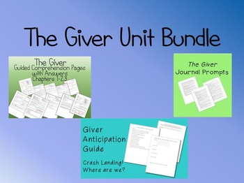 The Giver Unit Bundle