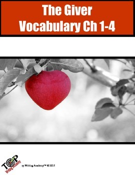 The Giver Vocabulary Ch 1-4 10 words 5 Exercises 2 Quizzes