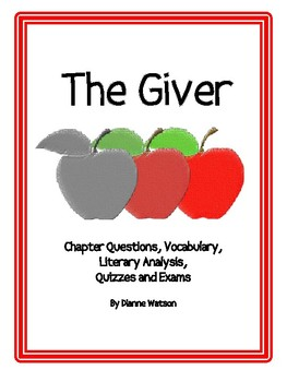 The Giver:  Vocabulary, Guided Reading, Literary Analysis