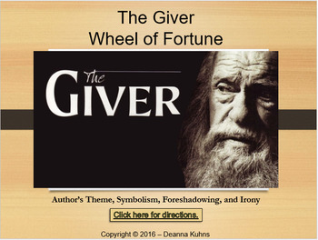 The Giver Wheel of Fortune