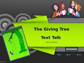 The Giving Tree Text Talk PowerPoint Presentation