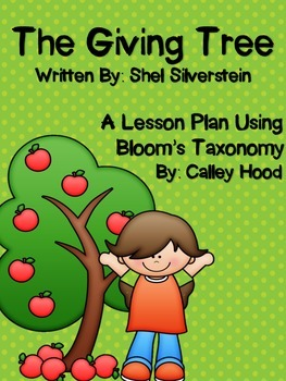 The Giving Tree by Shel Silverstein Bloom's Taxonomy