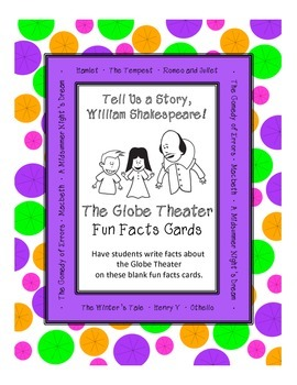 The Globe Theater Fun Facts Cards