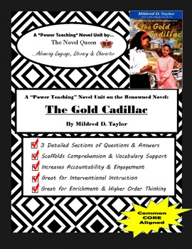 The Gold Cadillac by Mildred D. Taylor--Complex Text Novel Unit
