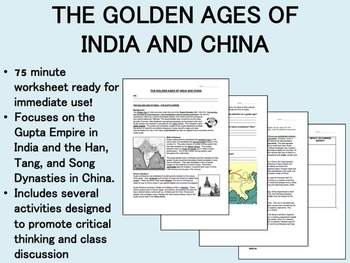 The Golden Ages of India and China worksheet - Global/Worl