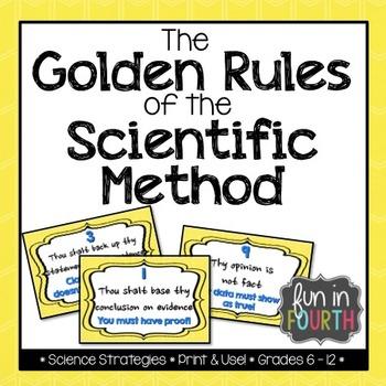 Scientific Method Golden Rules - Bulletin Board Set