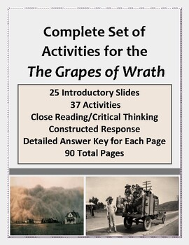 The Grapes of Wrath:  Activities for Close Reading and Cri