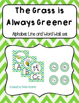 The Grass is Always Greener Alphabet Line and Word Wall He