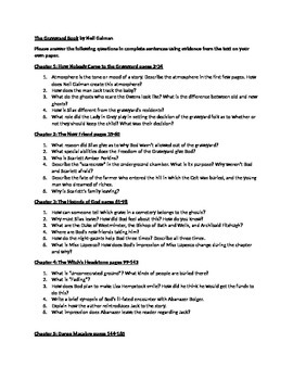 The Graveyard Book by Neil Gaiman Comprehension Questions