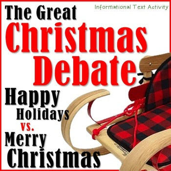 The Great Christmas Debate! *An Informational Text Activity!!*