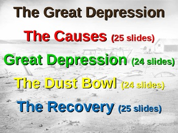 Great Depression! (PART 3: DUST BOWL) visual, textual, eng