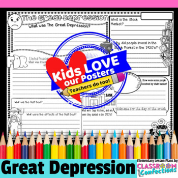 The Great Depression Activity Poster