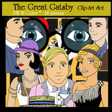 The Great Gatsby- 18 pc. Clip-Art, 8 BW & 8 Color