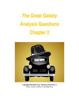 The Great Gatsby Chapter 2 Close Reading / Analysis Text-d