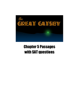 The Great Gatsby Chapter 5 SAT Practice