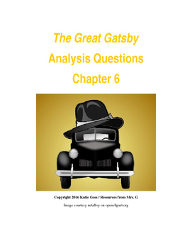 The Great Gatsby Chapter 6 Close Reading / Analysis Text-d