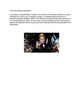 The Great Gatsby Character Debate