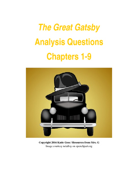The Great Gatsby Close Reading / Analysis Text-dependent Q
