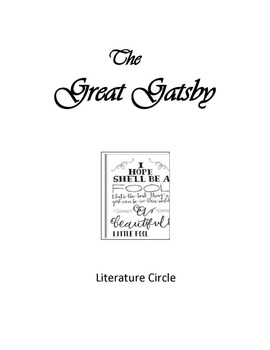 The Great Gatsby Literature Circle with CCSS