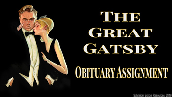 The Great Gatsby Obituary Assignment