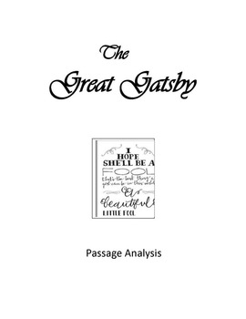 The Great Gatsby Passage Analysis and Expository Writing A