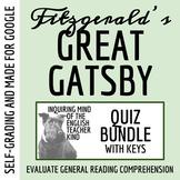 The Great Gatsby Quiz Bundle (Set of 9)