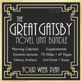 Great Gatsby Unit Plan, FOUR FULL WEEKS of Dynamic Lessons