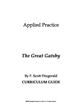 The Great Gatsby Unit Test and Vocabulary Quizzes by Appli