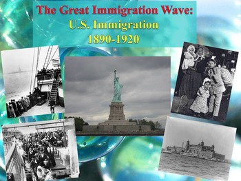 The Great Immigration Wave: U.S. Immigration 1890-1920