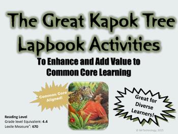 The Great Kapok Reading Lapbook Ideas & Templates