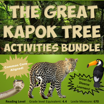 The Great Kapok Tree Reading Lessons & Activities Bundle