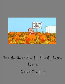 The Great Pumpkin Friendly Letter Writing Lesson
