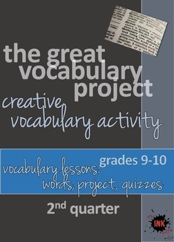 The Great Vocabulary Project: High School Activity, Quizze