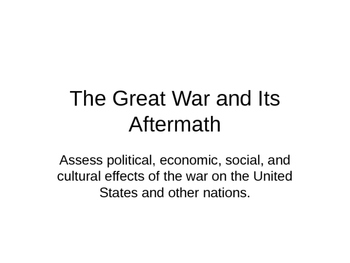 The Great War and Its Aftermath 3