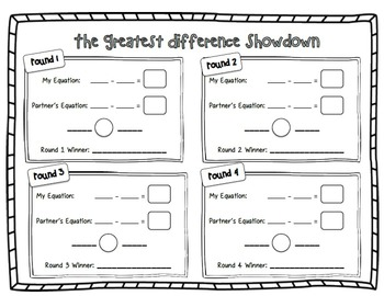The Greatest Difference Showdown: Two-Digit Subtraction