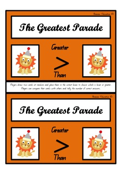 The Greatest Parade – Greater Than & Less Than Game