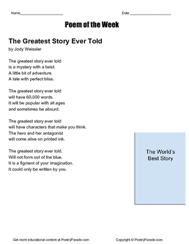 The Greatest Story Ever Told - Poem of the Week with quest
