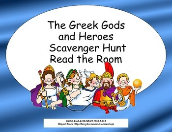 The Greek Gods and Heroes Scavenger Hunt- Read The Room- G