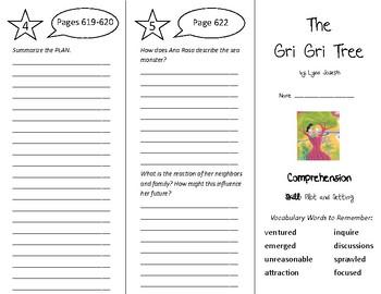 The Gri Gri Tree Trifold - Treasures 5th Grade Unit 5 Week