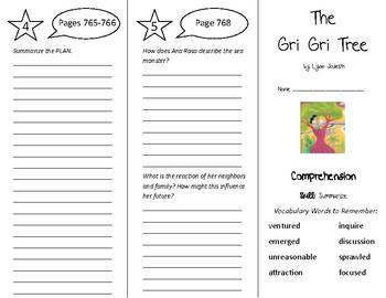 The Gri Gri Tree Trifold - Treasures 5th Grade Unit 6 Week