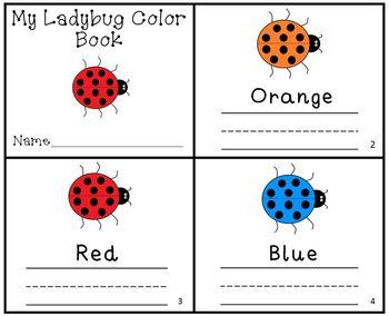 Ladybug Color Writing Practice Reader Mini Book