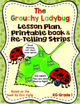 The Grouchy Ladybug-Lesson Plan, Printables, and Story tel