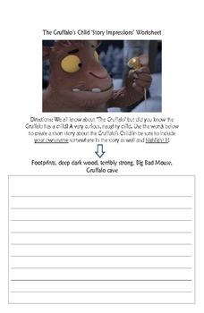 The Gruffalo's Child Story Impressions Worksheet