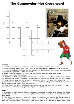 The Gunpowder Plot Cross Word and Color