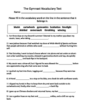 The Gymnast Vocabulary Test and Vocabulary Dominoes