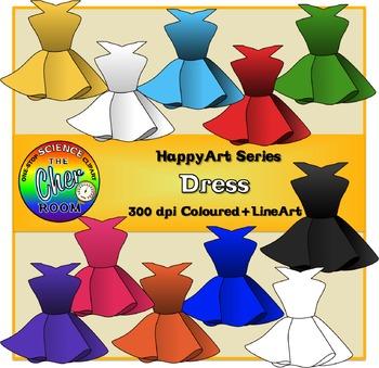 Dress Clipart (The HappyArt Series)
