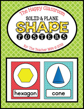 The Happy Classroom: Shape Posters {Color and B&W}