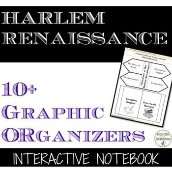 Harlem Renaissance Interactive Notebook Graphic Organizers